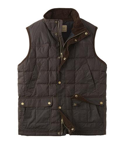 Men S L L Bean Upcountry Waxed Cotton Down Vest