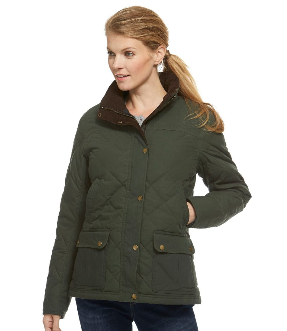 Women's L.L.Bean Upcountry Waxed-Cotton Down Jacket