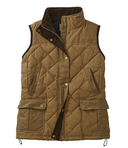 L.L.Bean Upcountry Waxed Cotton Down Vest