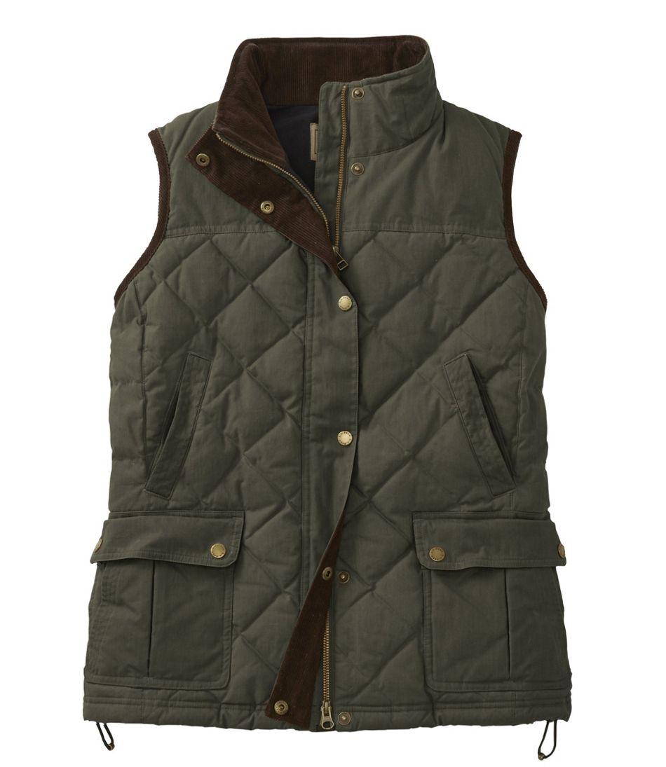 Women's L.L.Bean Upcountry Waxed Cotton Down Vest
