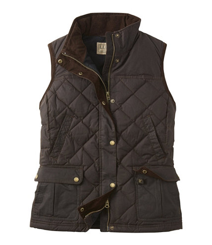 Women S L L Bean Upcountry Waxed Cotton Down Vest