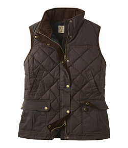 Women's L.L.Bean Upcountry Waxed Cotton Down Vest