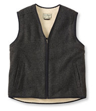 Men's Fleece-Lined Wool Vest