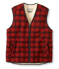 Men's Fleece-Lined Wool Vest, Plaid