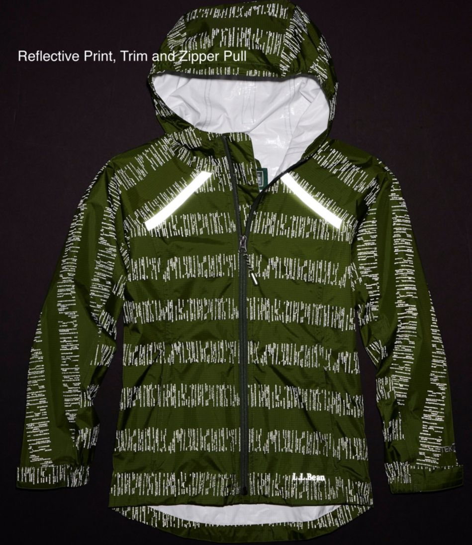 Kids' Trail Model Rain Jacket, Print