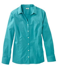 Wrinkle-Free Poplin Shirt, Long-Sleeve