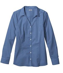 Women's Wrinkle-Free Poplin Shirt, Long-Sleeve