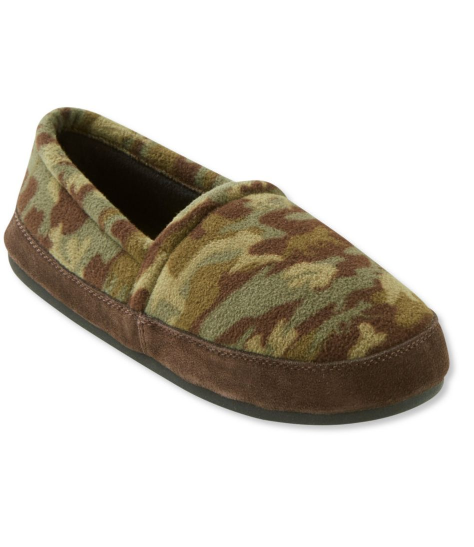 Men's Fleece Mountain Lodge Slippers, Print