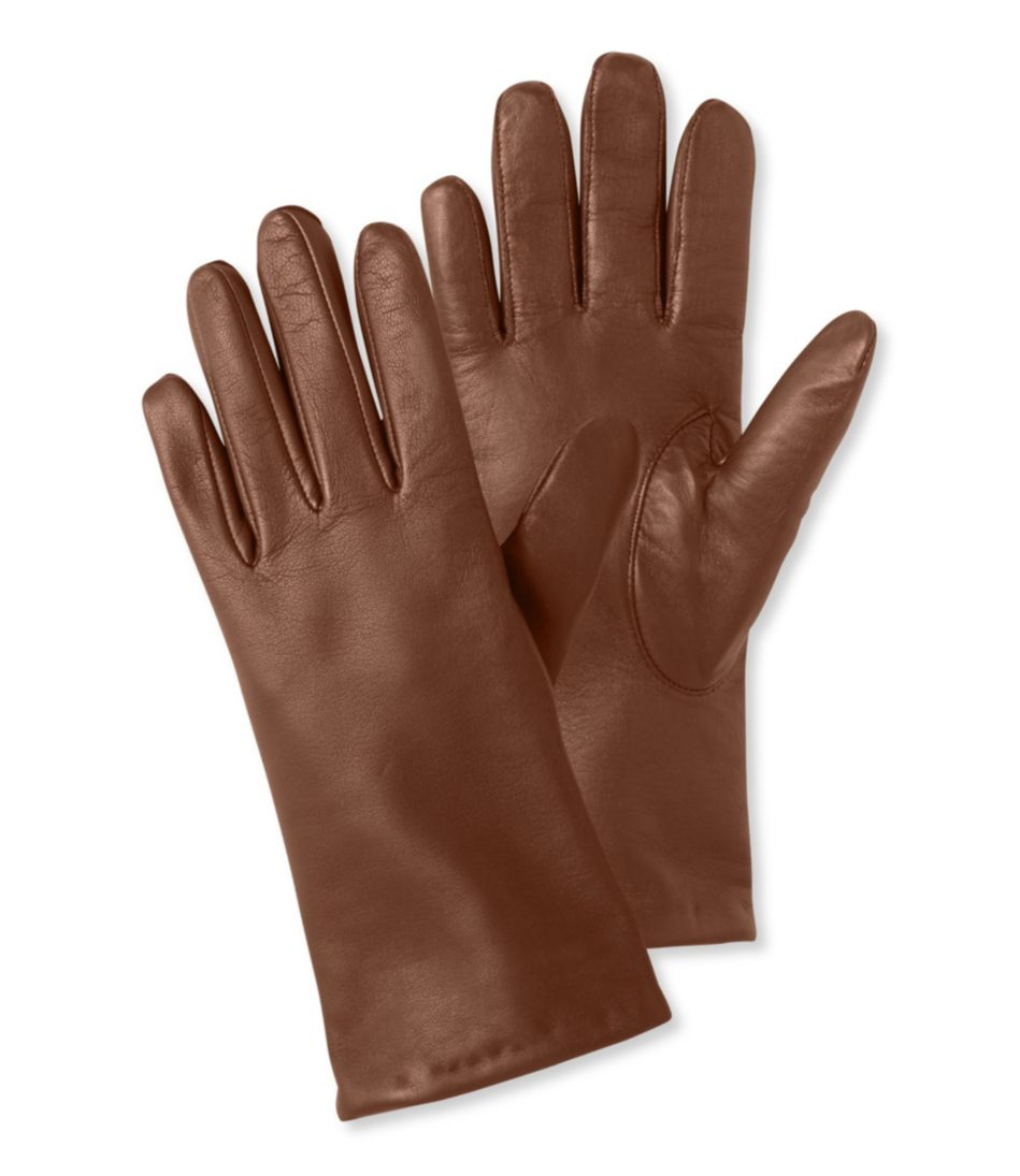 Leather/Cashmere Touchscreen Gloves