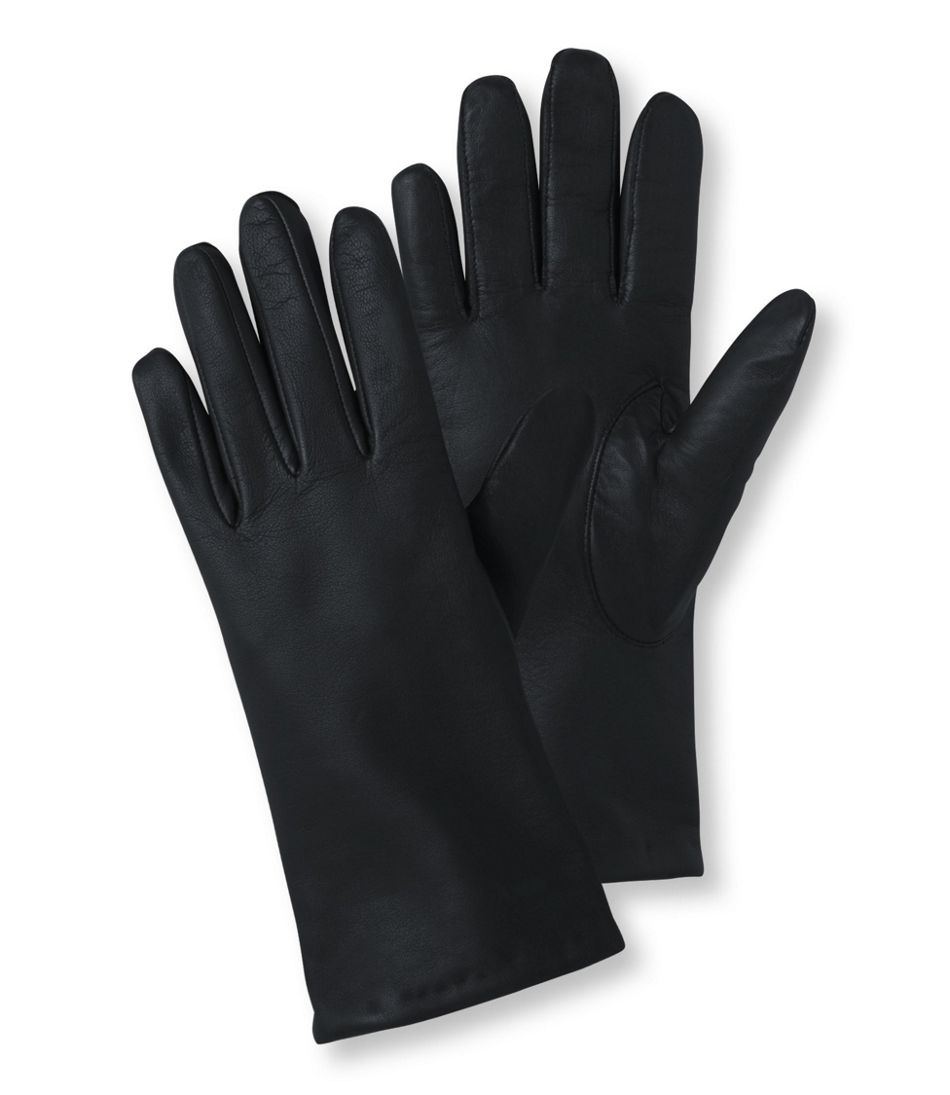 Women's Leather/Cashmere Touchscreen Gloves