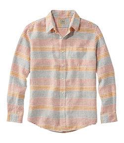 Men's L.L.Bean Linen Shirt, Slightly Fitted Long-Sleeve Stripe