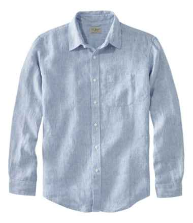 L.L.Bean Linen Shirt, Slightly Fitted Long-Sleeve Stripe