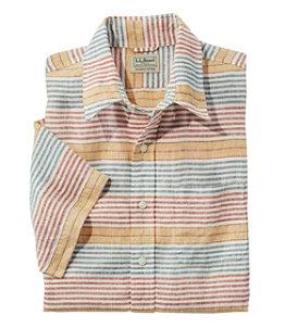 Men's L.L.Bean Linen Shirt, Slightly Fitted Short-Sleeve Stripe