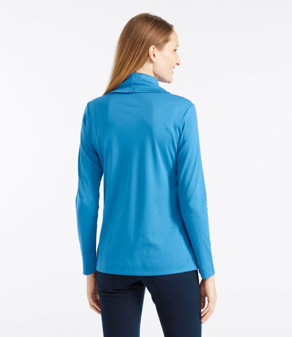Pima Cotton Tunic, Long-Sleeve Cowlneck