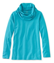 Pima Cotton Tunic, Long-Sleeve Cowlneck