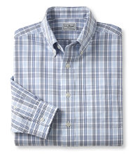 Wrinkle-Free Pinpoint Oxford Cloth Shirt, Slightly Fitted Plaid