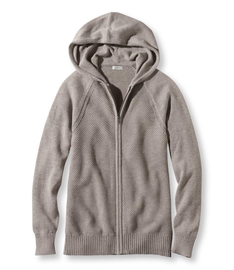 Honeycomb-Stitch Sweater, Hoodie