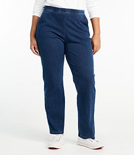 Women's Perfect Fit Pants, Straight-Leg Denim