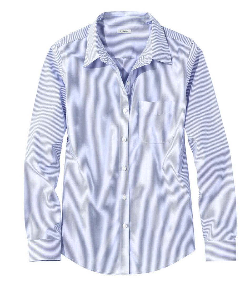 31d009de24 Wrinkle-Free Pinpoint Oxford Shirt, Long-Sleeve Relaxed Fit Stripe