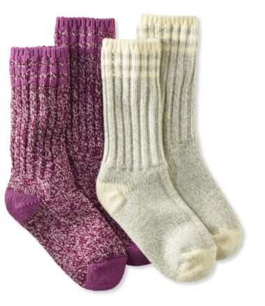 "Merino Wool Ragg Sock, 10"" Stripe Two-Pack"