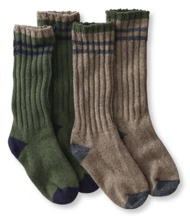 "Merino Wool Ragg Socks, 12"" Stripe Two-Pack"