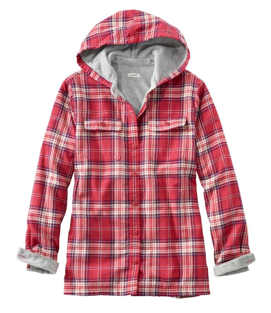 Women's Fleece-Lined Flannel Hoodie, Plaid