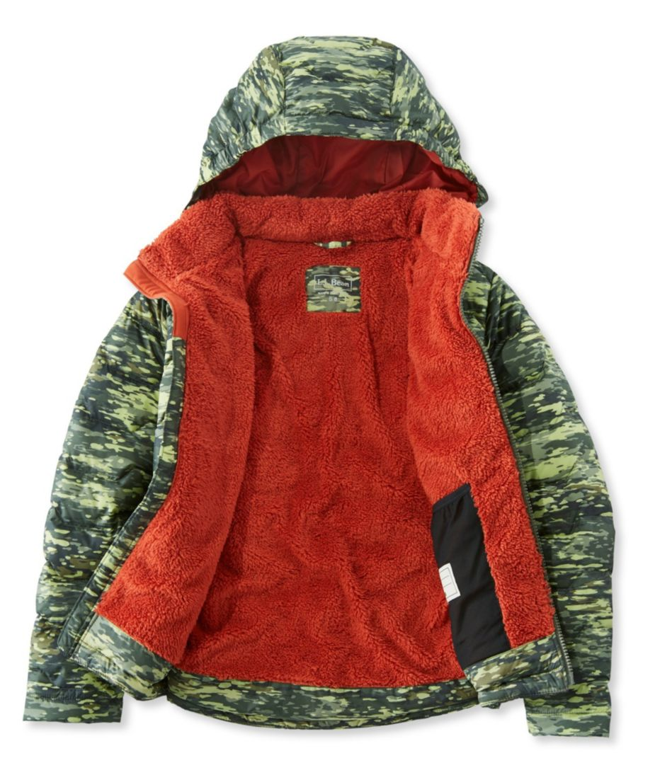 Boys' L.L.Bean Fleece-Lined Down Jacket, Print
