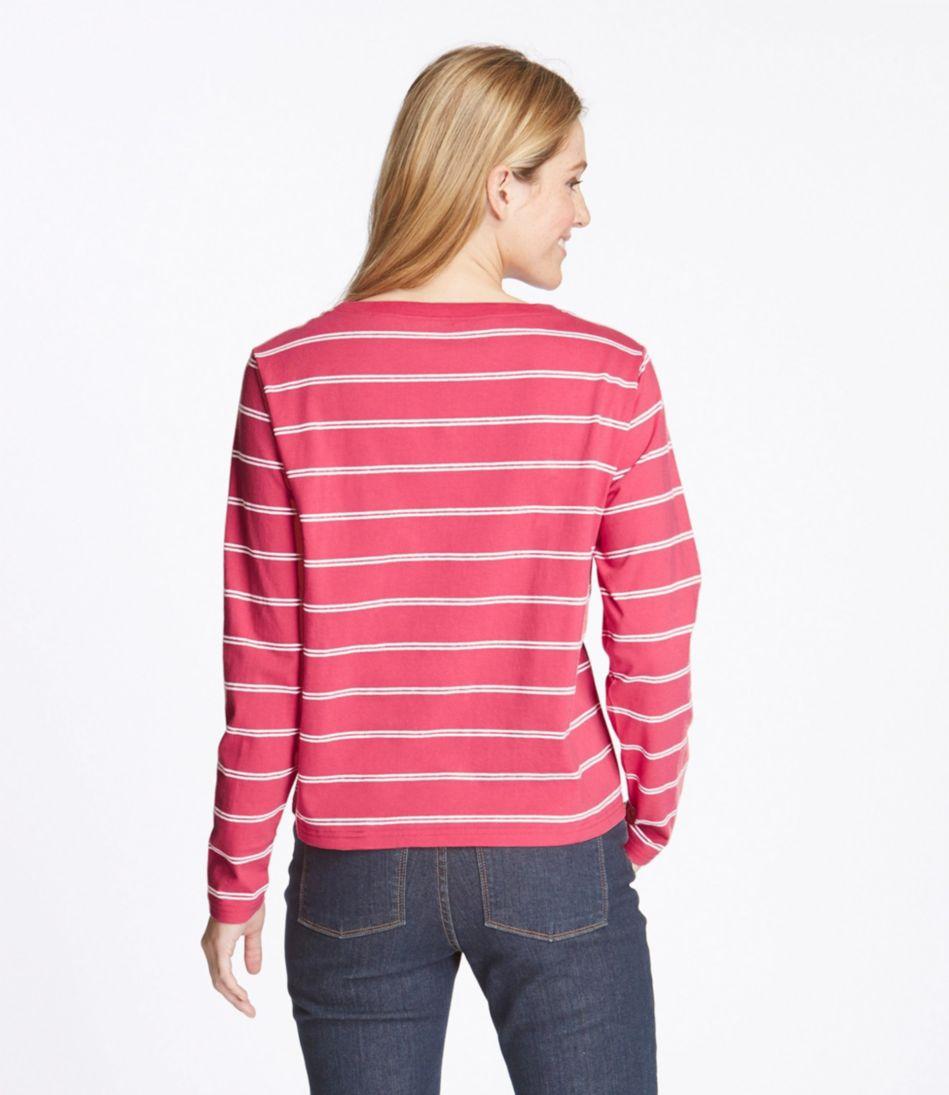 Saturday T-Shirts, Boatneck Long-Sleeve Stripe