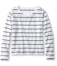 Saturday T-Shirts, Boatneck Long-Sleeve Stripe