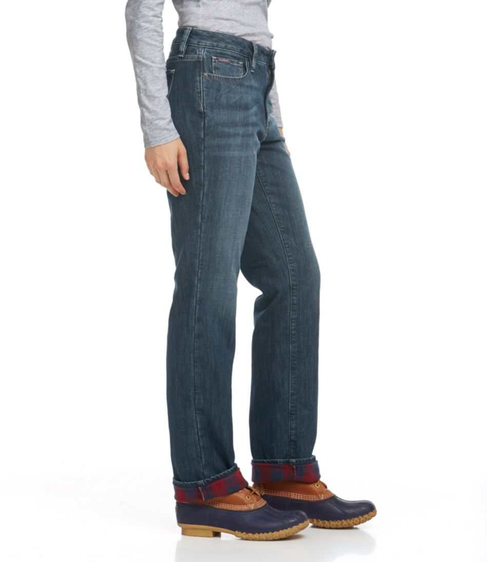L.L.Bean 1912 Jeans, Straight-Leg Lined