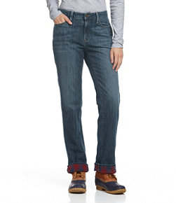 L.L.Bean 1912 Jeans, Straight-Leg Lined