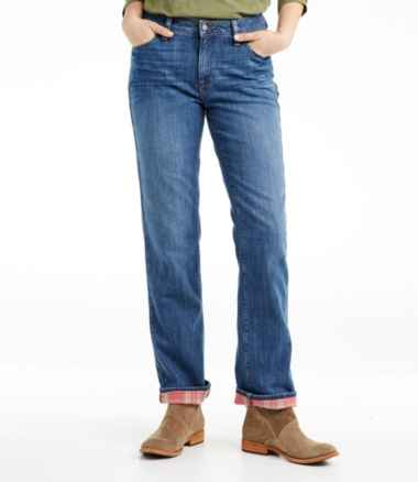 Women's L.L.Bean 1912 Jeans, Straight-Leg Lined