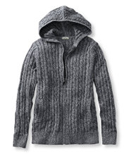 Double L Cotton Sweater, Zip-Front Hoodie Marled