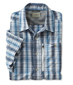 Men's Cool Weave Shirt, Short-Sleeve Plaid