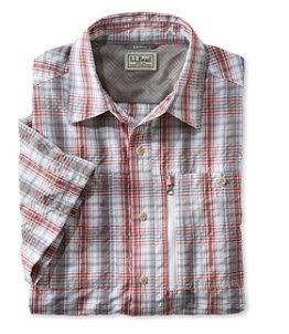 Men's Cool Weave Shirt, Short-Sleeve Plaid