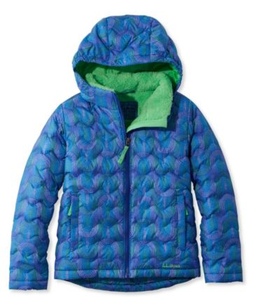 Girls' L.L.Bean Fleece-Lined Down Jacket, Print