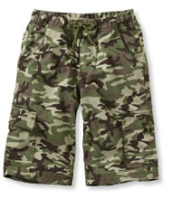 Boys' Cotton Twill Cargo Shorts, Print