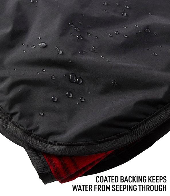 Waterproof Outdoor Blanket, Plaid, Shale Gray/Black, large image number 2
