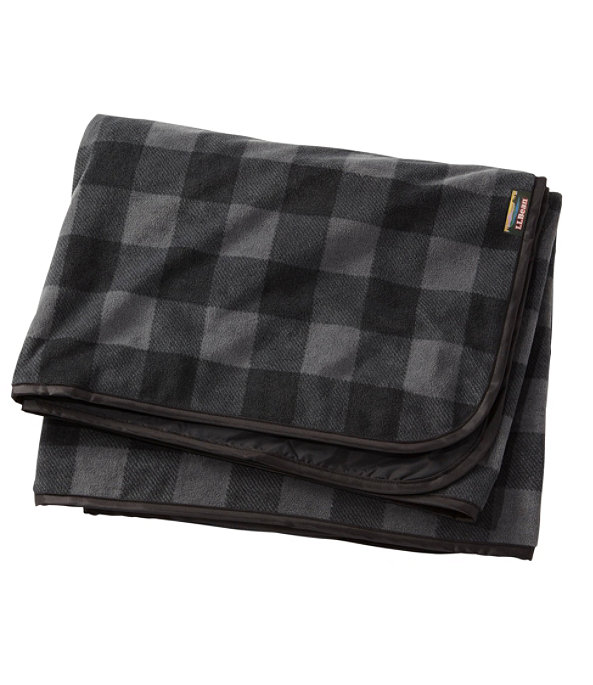 Waterproof Outdoor Blanket, Plaid, Shale Gray/Black, large image number 0