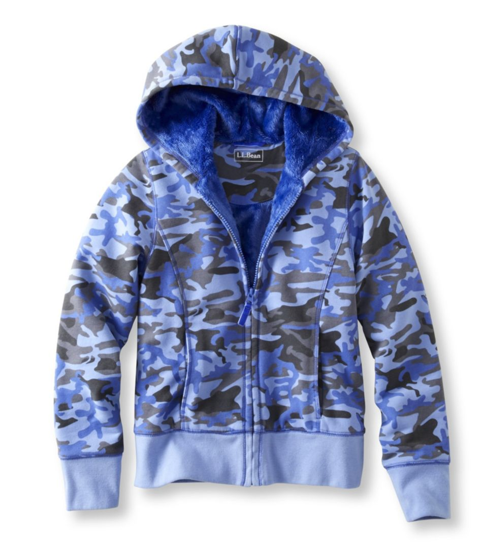 Girls' Fleece-Lined Camp Sweatshirt, Hoodie Print
