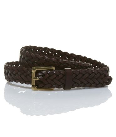 Signature Braided Leather Belt