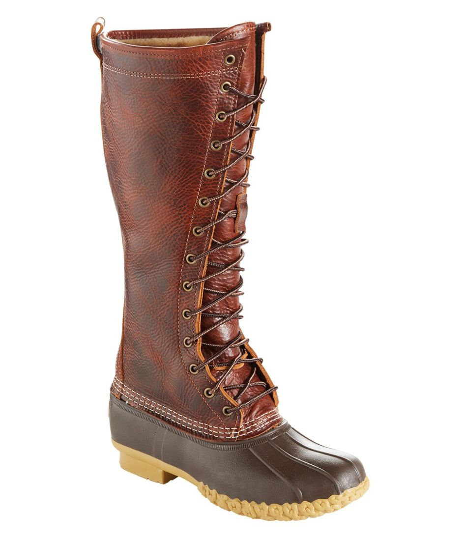 """Women's Bean Boots, 16"""" Shearling-Lined"""