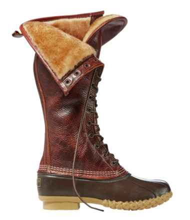 "Women's Bean Boots, 16"" Shearling-Lined"