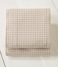 Ultrasoft Comfort Flannel Sheet, Flat Gingham