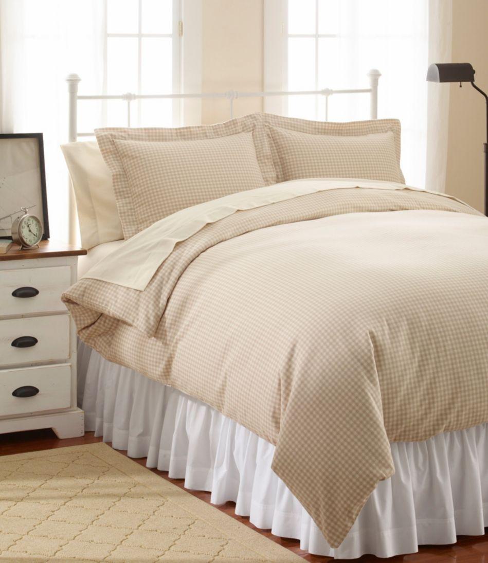 Ultrasoft Comfort Flannel Comforter Cover, Gingham