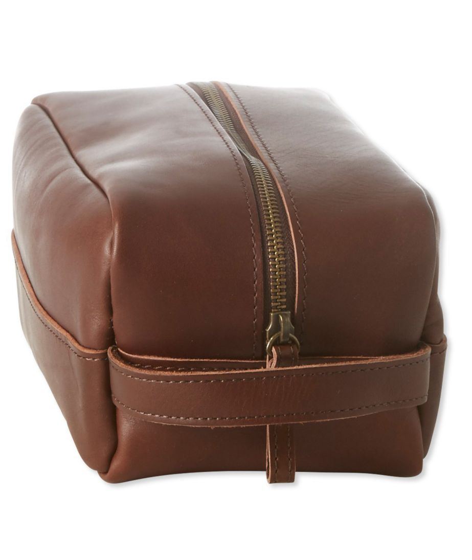 Signature Leather Dopp Kit