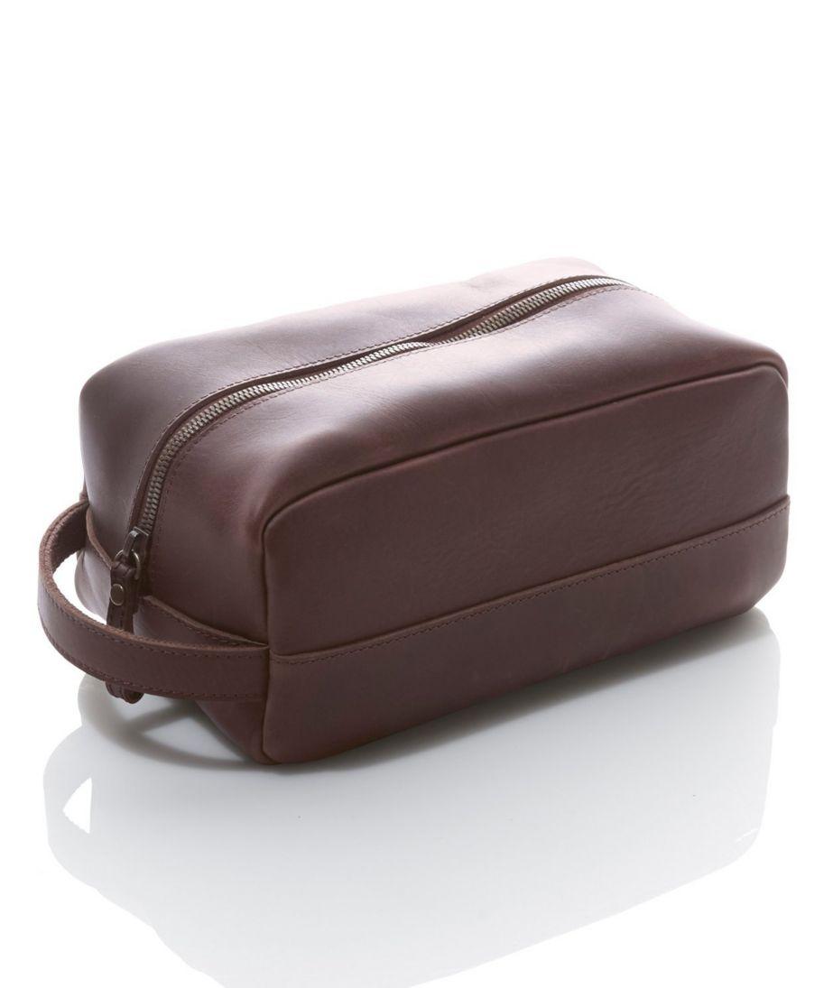 Signature Leather Dopp Kit