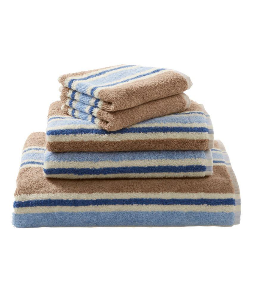 llbean egyptian cotton towels stripe - Egyptian Cotton Towels
