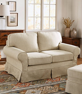 Pine Point Slipcovered Love Seat