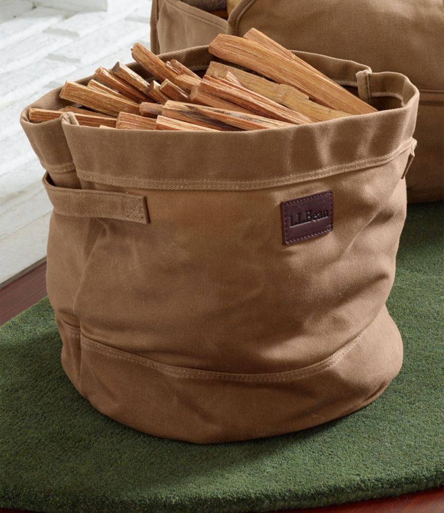 Waxed Canvas Storage Tote